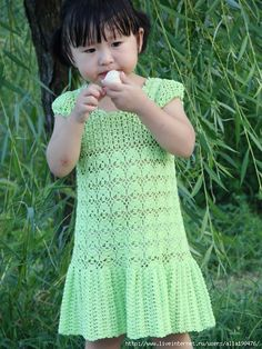 Girls Dress free crochet graph pattern