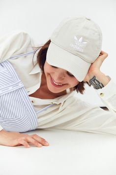 Slide View: 1: adidas Originals Relaxed Strapback Baseball Hat