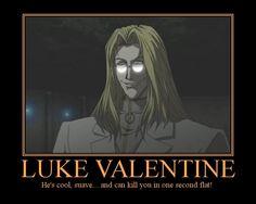 """Luke Valentine, from """"Hellsing Ultimate"""""""