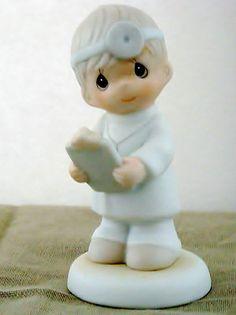 Precious Moments Loving Is Caring Boy Doctor Porcelain Figurine Vtg 1997 Nib | eBay