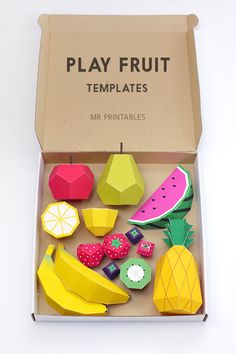 8 Food-Themed Desk Accessories, Because It's Monday #refinery29  http://www.refinery29.com/desk-accessories#slide1  The number 1 reason you need this do-it-yourself fruit origami all over your desk? It's free. Number 2 reason? Look how cute!Mr. Printables Play Fruit Templates, FREE, available at Mr. Printables.