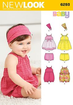 Simplicity Creative Group - Babies' Romper, Dress, Panties and Headband