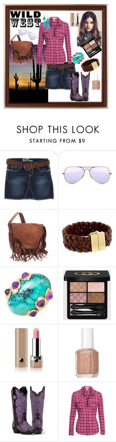 """Wild West"" by tropicalhaven ❤ liked on Polyvore featuring Bongo, Ray-Ban, Cole Haan, Gucci, Marc Jacobs, Essie and Chico's"