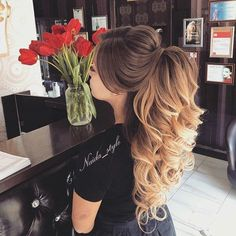 56 - The most beautiful hair designs for you ladies - 1 Great hairstyles are designed for you ladies. If you want to enter the summer season by creati. Elegant Hairstyles, Formal Hairstyles, Bride Hairstyles, Cool Hairstyles, Gorgeous Hairstyles, Fashion Hairstyles, Pageant Hair, Prom Hair, Wedding Hair And Makeup