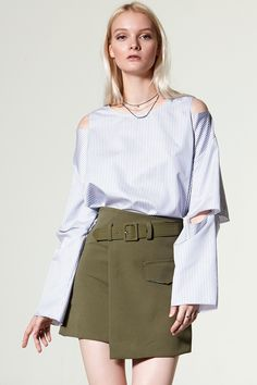 Eshlly Front Belt Skirt Discover the latest fashion trends online at storets.com #storets online store  #storets store online  #storets shop online