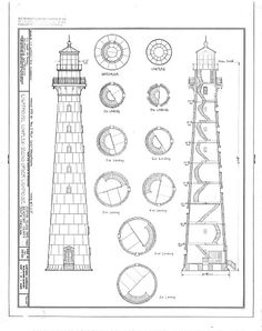 Lighthouse design plan design patent vintage print pinterest south carolina lighthouse blueprint by blueprintplace on etsy malvernweather Image collections