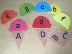 Abeceda, písmena, zmrzlina Education, School, Onderwijs, Learning