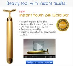 Improve you skin and look sharper, younger with Instant youth 24k Gold bar. Check it out.
