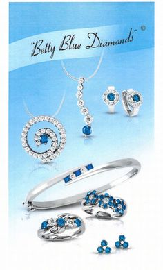 TBT to an old ad for our Betty Blue collection! #Alberto #ColorDiamonds #BettyBlue #Jewelry