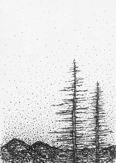 """""""WINTER DAYS"""" An original Ink Drawing by Kendra Castillo   This piece was inspired by the changing of the seasons. There is beauty and solace to be found in a winter's day. A great piece that will add interest to any space."""