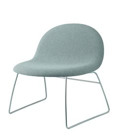 GUBI // Gubi Lounge Chair with upholstery and chrome sled base