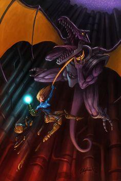Metroid - Samus vs Ridley