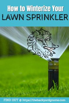 Learn how to winterize your own lawn sprinkler system DIY style, as part of your seasonal maintenance. Lawn Sprinkler System, Lawn Sprinklers, Compressed Air, Eye Protection, Serious Injury, Water Supply, Irrigation