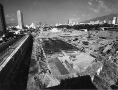 Movimiento de tierra de la construccion de el Parque Central