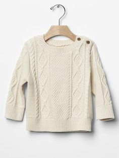 Cable knit sweater Greyson's baptism