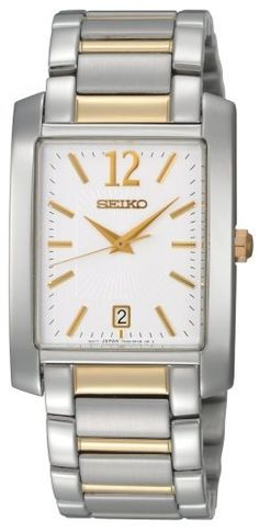 Seiko Men's SKK709 Dress White Dial Watch Seiko. $100.30. Hardlex crystal. Hour, minute and second hand. Push button release clasp. Water-resistant to 99 feet (30 M). Stainless steel case and bracelet. Save 66% Off!