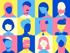People Diverse People by Konstantinos Pappas people human illustrationDiverse People by Konstantinos Pappas people human illustration Art And Illustration, Illustration Design Graphique, Plakat Design, Art Vintage, Design Poster, Grafik Design, Graphic Design Inspiration, Clipart, Oeuvre D'art