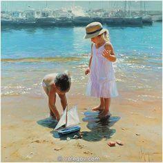 """Friends"" by Vladimir Volegov, 2009, painting, 90x90 cm, oil on canvas"