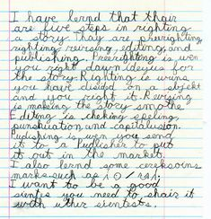 007 Pictures of what Dysgraphia writing samples can look like