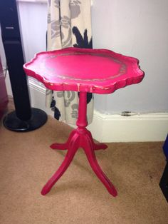 Side/wine/lamp table in Annie Sloan emperors silk makeover