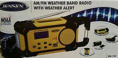 Jensen AM/FM Weather Band Radio with Weather Alert MR-750 NIB