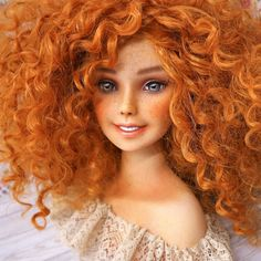 The new doll is almost ready for Friday and for now let me show you some more pics of my sunny girl  #doll #dolls #monsterhigh #barbie #repaint #custom #barbiedoll #face #makeup #makeover #hairstyle #curls #ginger #redhair #cute #pretty #girl #woman #OOAK #eyes #lips #freckles #art #artist #drawing #painting #fabercastell #pencils #etsy #Mattel