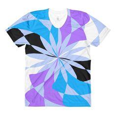 Lilia Black White Blue Purple Women's Crew Neck T-shirt