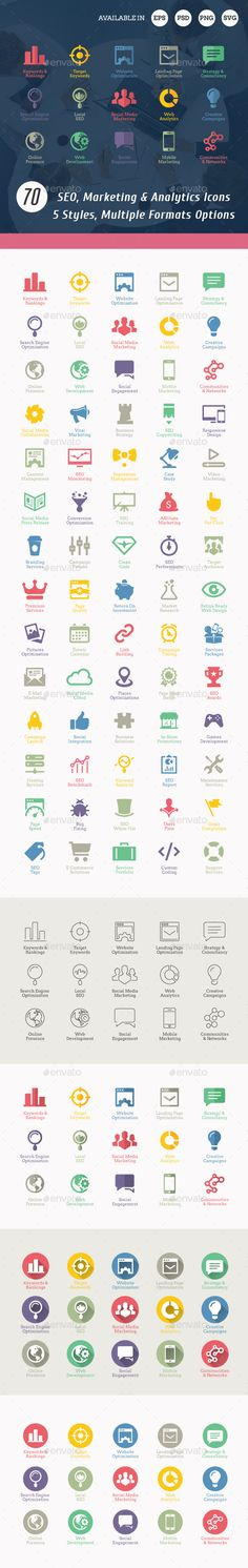 SEO Icons — Photoshop PSD #responsive design #line icons • Download ➝ https://graphicriver.net/item/seo-icons/3000523?ref=pxcr