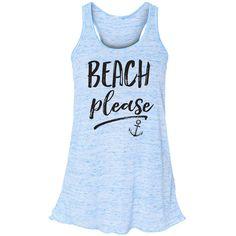 Beach Please Flowy Tank Top Mermaid Shirt Mermaid Summer Tank Beach... ($23) ❤ liked on Polyvore featuring tops, blue, t-shirts, women's clothing, blue striped shirt, striped shirt, beach shirts, racer back tank top and blue stripe shirt