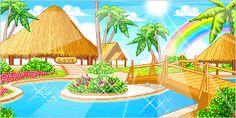Paisajes paradisíacos animados gratis.