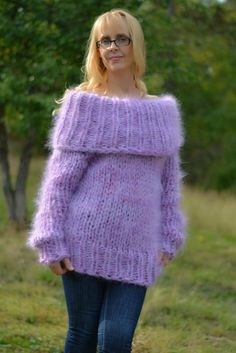 READY mohair sweater fuzzy cowlneck sweater handmade by Dukyana Laine Chunky, Pull Mohair, Jumper, Mohair Sweater, All Things, Chunky Sweaters, Buy And Sell, Pullover, Etsy