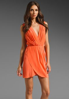 AMANDA UPRICHARD Crystal Dress in Coral at Revolve Clothing - Free Shipping!