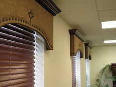 Chicken Houses Everyday Artist: Cornices with Crown Molding Radiant heating system: A Wood Valances For Windows, Window Cornices, Valance Window Treatments, Custom Window Treatments, Bedroom Windows, Wood Windows, Window Coverings, Window Curtains, Cornice Box