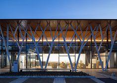Parking Building, Building Facade, Building Design, Timber Architecture, Architecture Details, Facade Design, Roof Design, Facade Lighting, Canopy Design