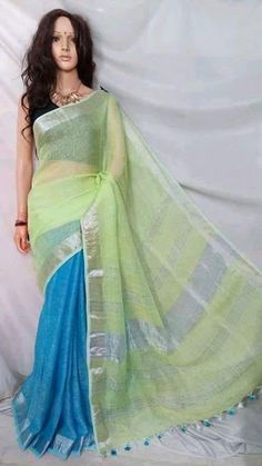 New Arrival Lenin Sarees - Elegant Fashion Wear Elegant Fashion Wear, Trendy Fashion, Fashion Beauty, Fashion Outfits, Womens Fashion, Indian Designer Suits, Saree Models, Hand Weaving, Cool Style