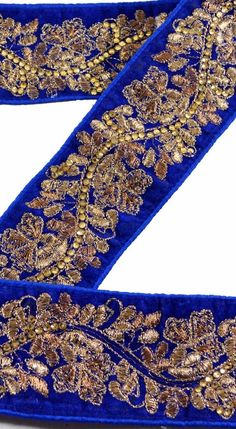Linens & Textiles (pre-1930) Sanskriti Vintage Sari Border Hand Beaded Craft Trim Sewing Purple Lace Modern And Elegant In Fashion