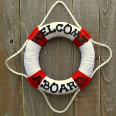 Lifesaver Wreath // Sail Boat Wreath // Beach by 3SunshineKisses