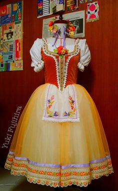Yellow Peasant Tutu with Hand Embroidered Apron (16th Sep 2014)