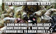 Combat Medic -  never deployed but proud to have trained as a combat medic