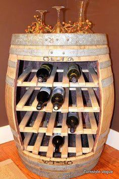 .I actually have a wine barrel in my Paris Room Would love to do this!