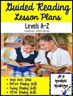 NEW! Guided Reading Lesson Plans Levels (A-Z)