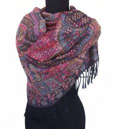 Donker paars Pashmina sjaal paarse sjaal Cashmere omslagdoek