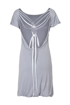 Grey Backless T-Shirt Dress- I think there's a DIY here...