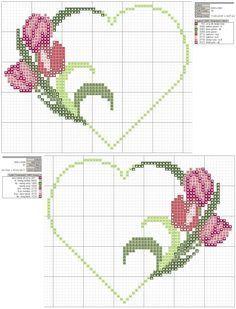 ~ punto croce by hand Wedding Cross Stitch, Mini Cross Stitch, Cross Stitch Heart, Cross Stitch Flowers, Cross Stitching, Cross Stitch Embroidery, Hand Embroidery, Cross Stitch Designs, Cross Stitch Patterns