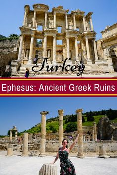 Ephesus, the Famous Ancient Greek and Roman Ruins in Turkey! Check out the article for travel tips, the full history, and surprising facts.