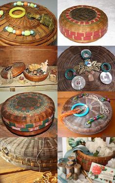 Vintage Chinese Sewing Baskets