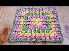 Transcendent Crochet a Solid Granny Square Ideas. Inconceivable Crochet a Solid Granny Square Ideas. Shawl Crochet, Crochet Square Blanket, Granny Square Crochet Pattern, Crochet Squares, Crochet Blanket Patterns, Crochet Motif, Knitting Patterns, Crochet Jacket, Granny Square Häkelanleitung