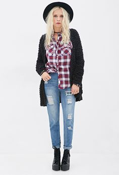 Mid-Rise - Distressed Skinny Jeans | FOREVER21 - 2000083823