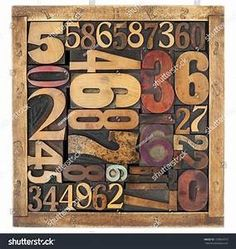 Find Number Abstract Vintage Letterpress Wood Type stock images in HD and millions of other royalty-free stock photos, illustrations and vectors in the Shutterstock collection. Tarot, Rustic Office Decor, Free Art Prints, Kitchen Wall Art, Wood Blocks, Types Of Wood, Letterpress, Typography, Symbols