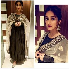 Ileana in Anarkali - @PayalSinghal Jewelry - @aquamarine shoes @fizzygoblet #ileanadcruz
